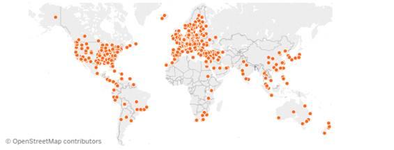 Toename Nederlandse studenten op locaties overal ter wereld