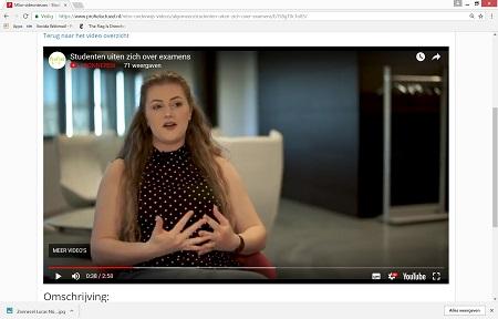 Studenten geven hun mening over examens - een Profiel Video