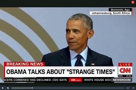 Obama's speech tegen racistisch nationalisme, voor democratie en een vrije pers