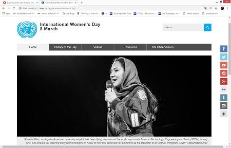 Internationale VN-Vrouwendag op 8 maart.- Think equal & innovate for change