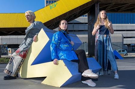 Sustainable fashion Zadkine-studenten 20-2 tijdens het festival TU Delft