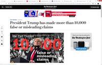 WaPo - De VS hebben een president die sinds 1-1-2016 ruim 10.000 keer loog