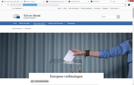 Verkiezingen Europees Parlement 2019 – gebruik je stem!