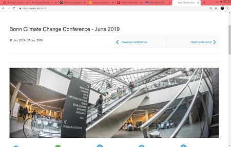 #ClimateEmergency & FridaysForFuture - 17-27 juni UNCC Bonn Climate Change Conference