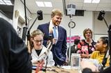 Koning Willem-Alexander opende Jubileumjaar van Zadkine Vakschool Schoonhoven